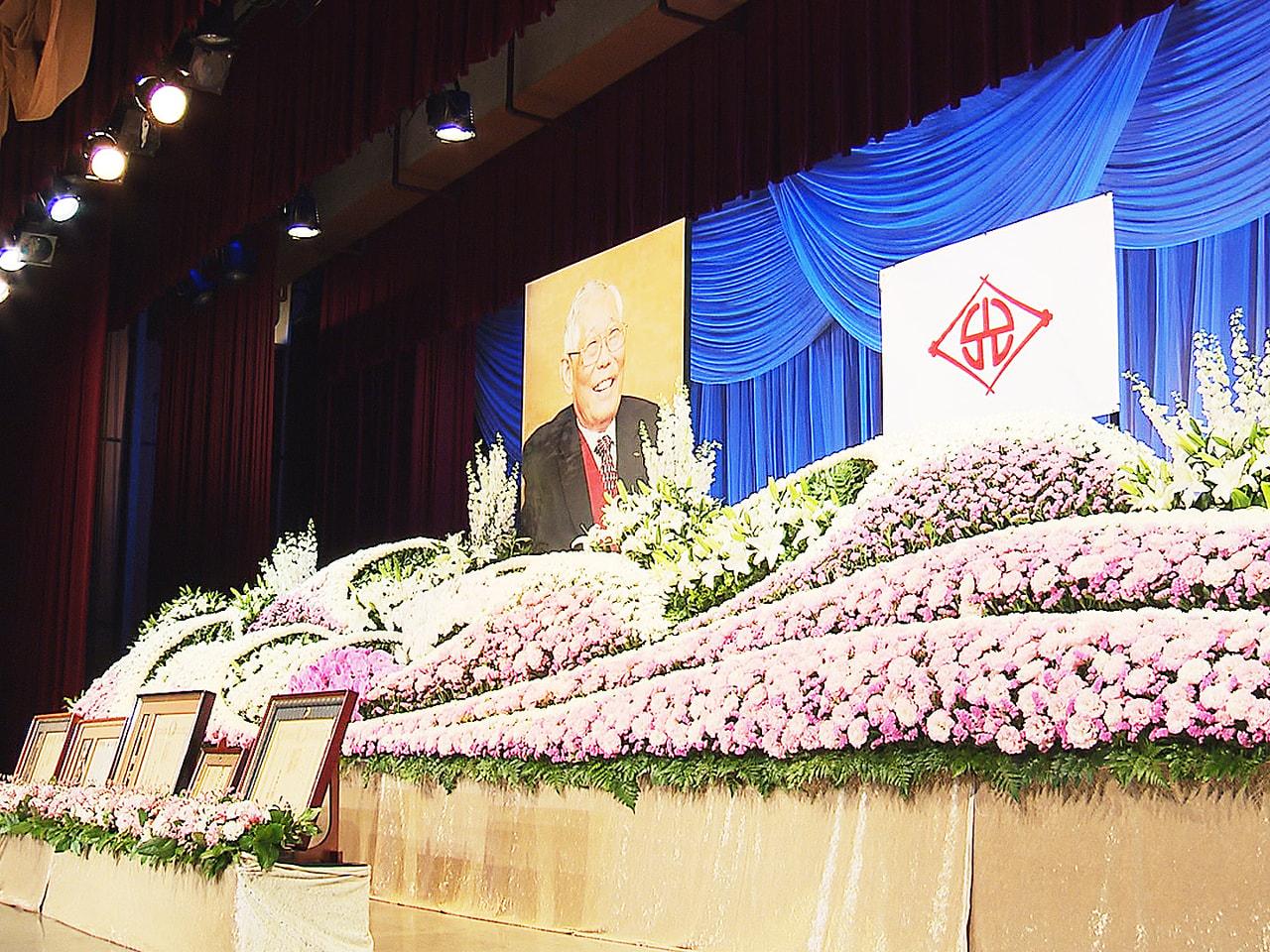 ことし6月に亡くなった笠松町の光製作所名誉会長で名誉町民の松原登士弘さんをしのぶ...