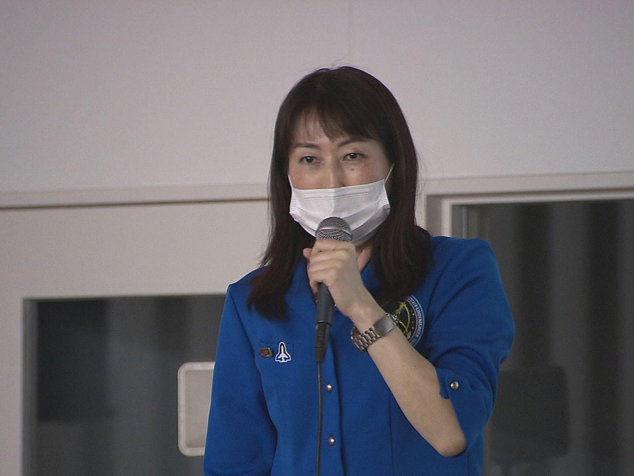 宇宙飛行士の山崎直子さんが、「岐阜かかみがはら航空宇宙博物館」で講演し、宇宙での...