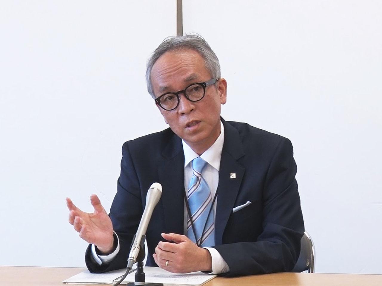 4月に岐阜県の新しい教育長に就任した堀貴雄さん(59)が会見し、「関係者との対話...