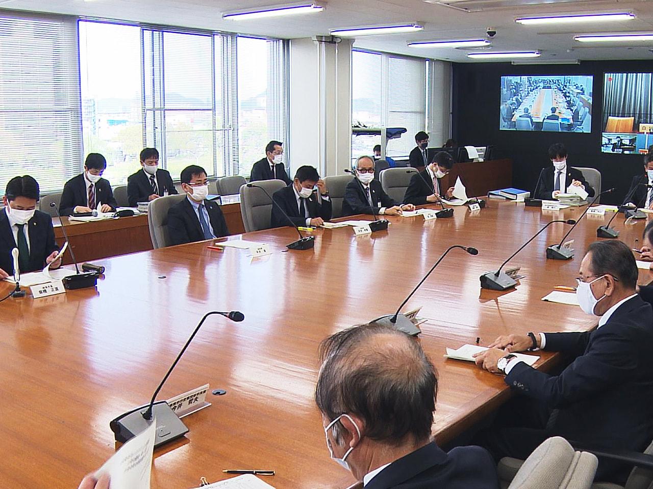 岐阜県は8日に開いた新型コロナウイルス対策本部の会議で、国のまん延防止等重点措置...