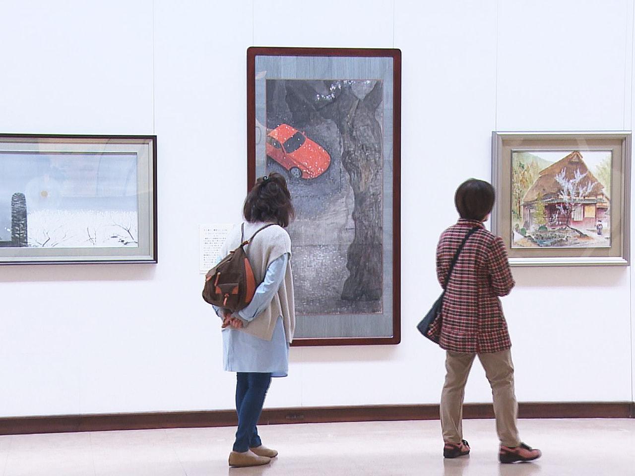 岐阜県大垣市出身の日本画家守屋多々志さんが描いた、春を感じられる作品の企画展が、...