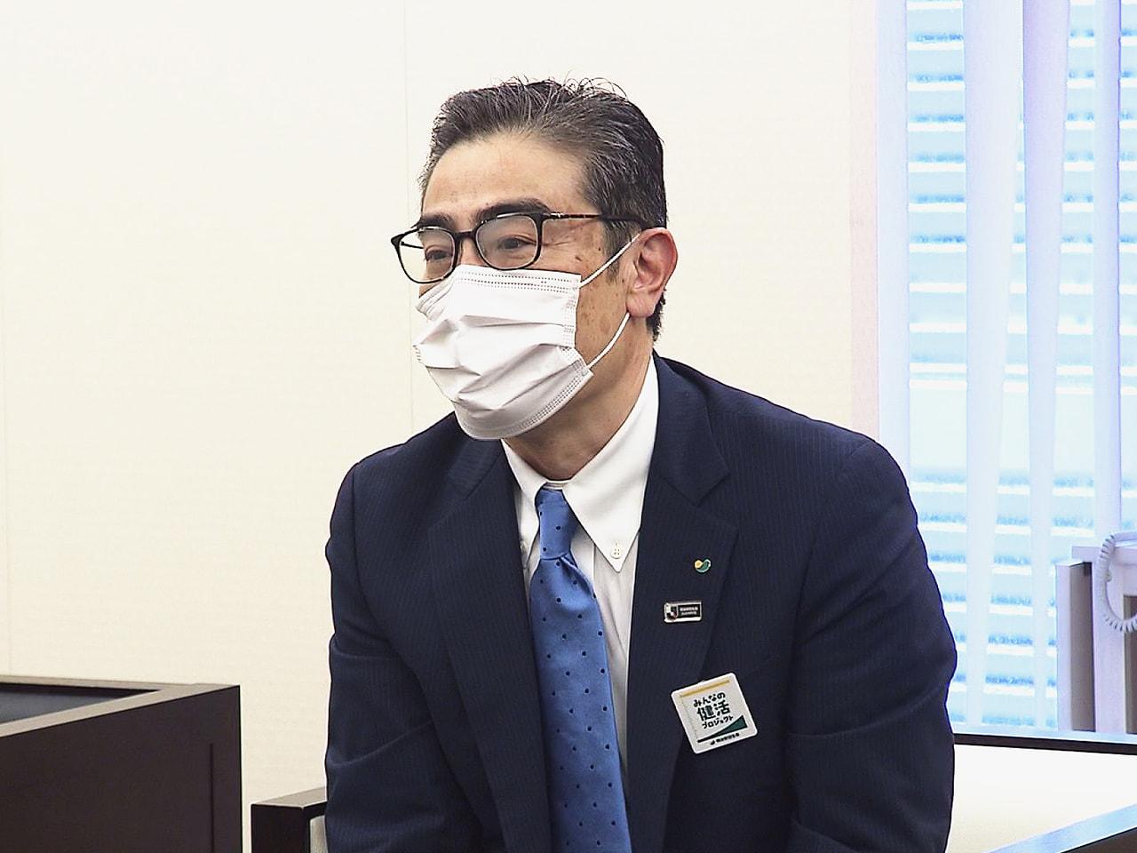 明治安田生命保険の若林稔執行役員総合法人業務部長が岐阜放送を訪れ、今後も地域に密...