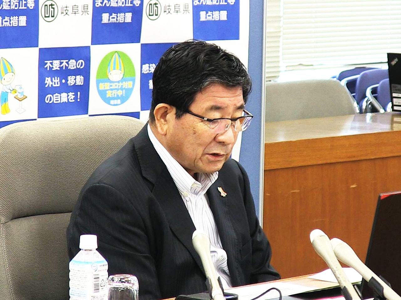 全国知事会議が10日、オンライン形式で行われ、岐阜県の古田肇知事は新型コロナウイ...
