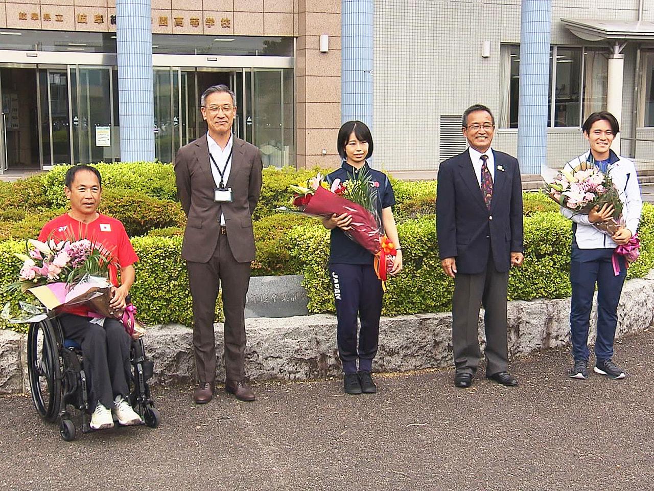 岐阜総合学園高校は16日、東京オリンピック・パラリンピックの代表に内定している卒...