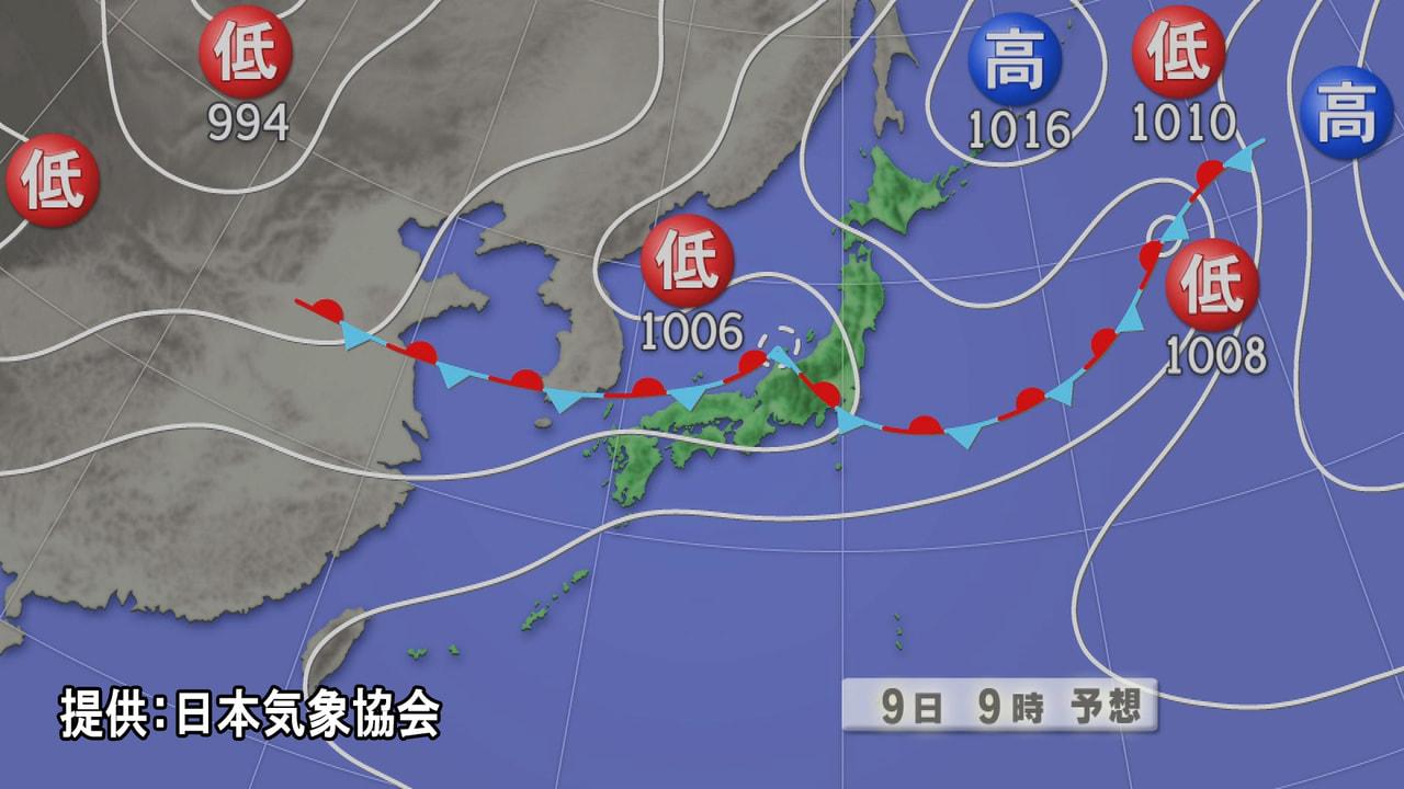 活発な梅雨前線の影響で岐阜県は大気の不安定な状態が続いていて、9日も断続的に雨に...