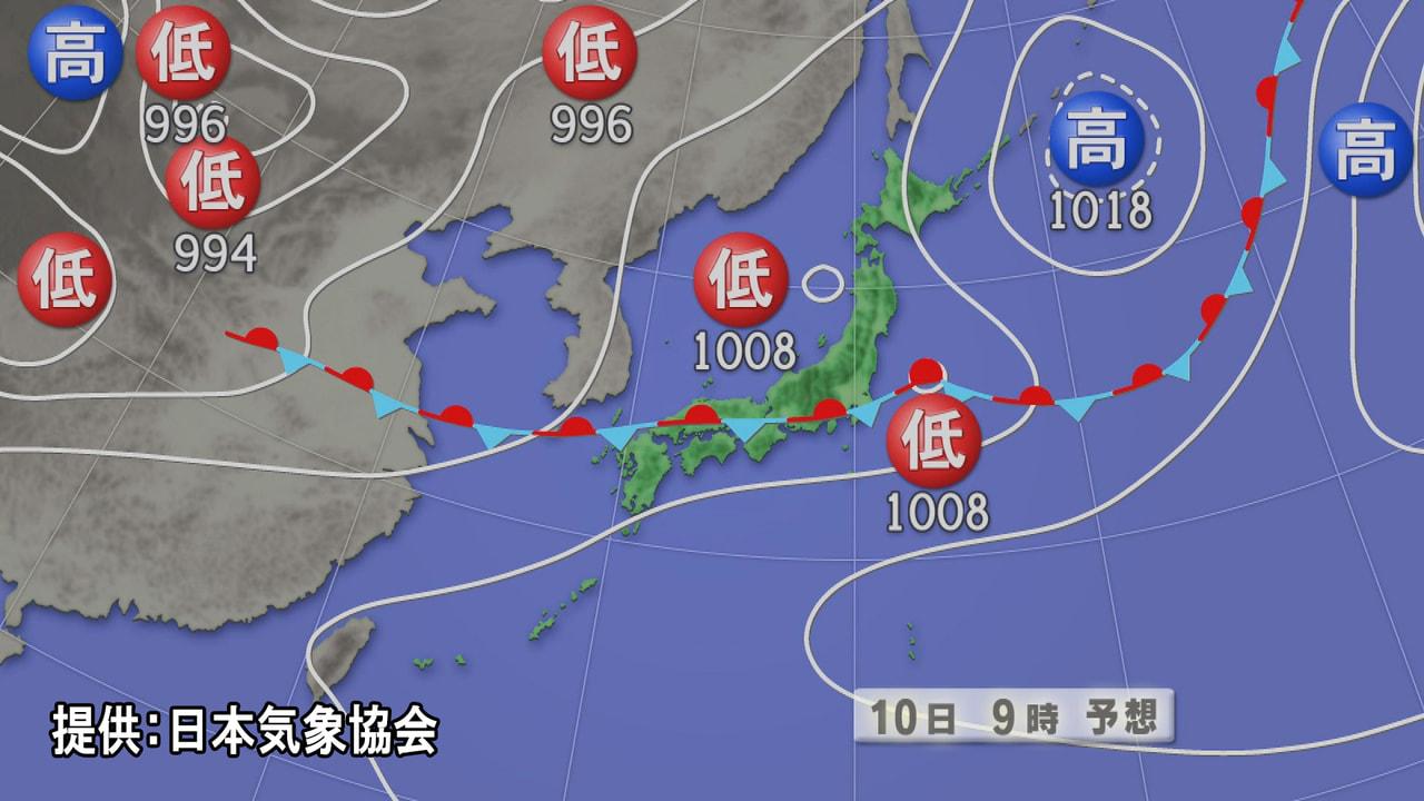 活発な梅雨前線の影響で岐阜県は、10日にかけて雷を伴った激しい雨が降る見込みです...
