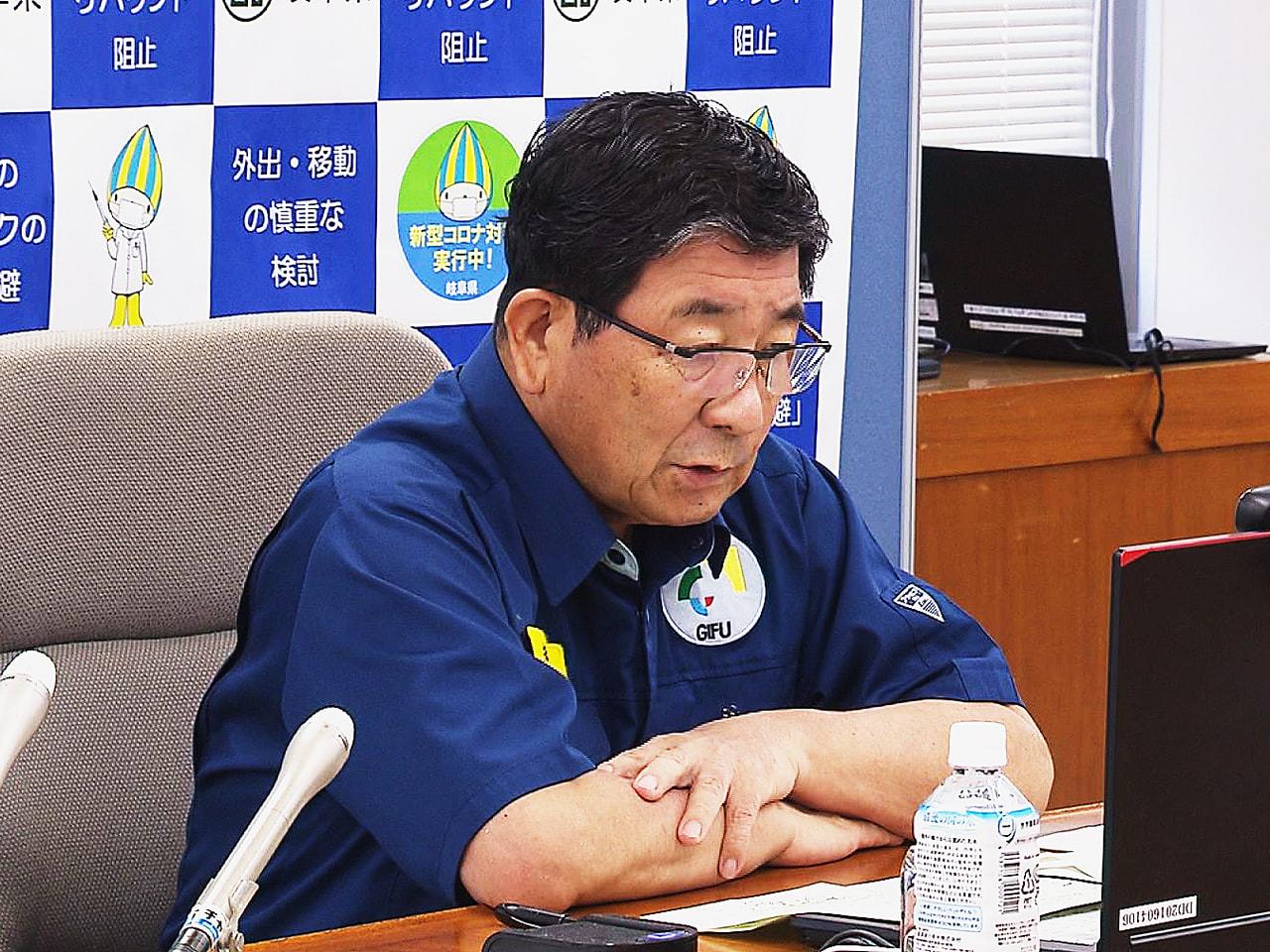 全国知事会は11日、オンラインで会議を行い、岐阜県の古田肇知事は、新型コロナウイ...