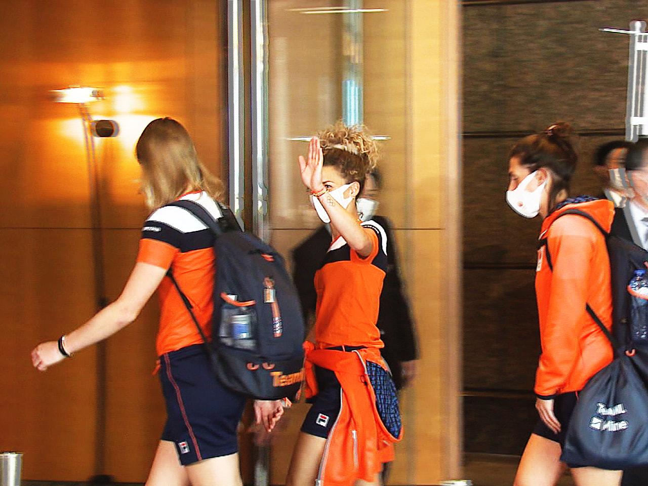 23日に開幕する東京オリンピックに向け、岐阜県内で事前合宿を行うオランダ女子ホッ...