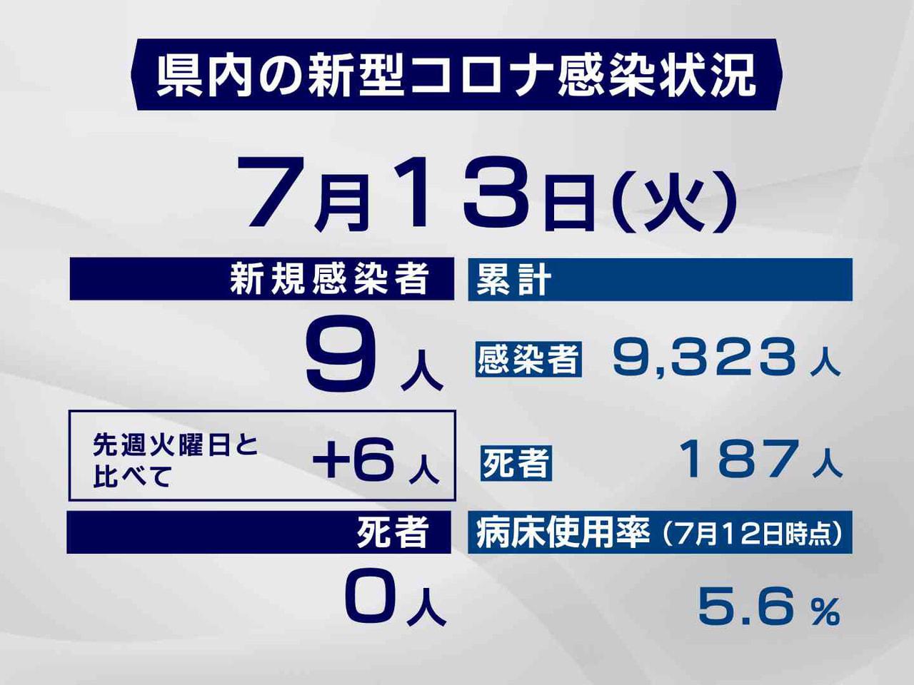岐阜県と岐阜市は13日、新型コロナウイルスの感染者が新たに9人確認されたと発表し...