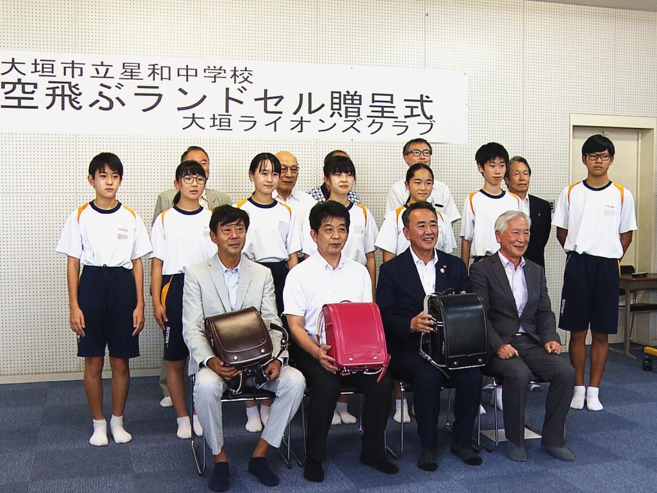 使い終えたランドセルを東南アジアの子どもたちに使ってもらおうと、岐阜県大垣市の中...