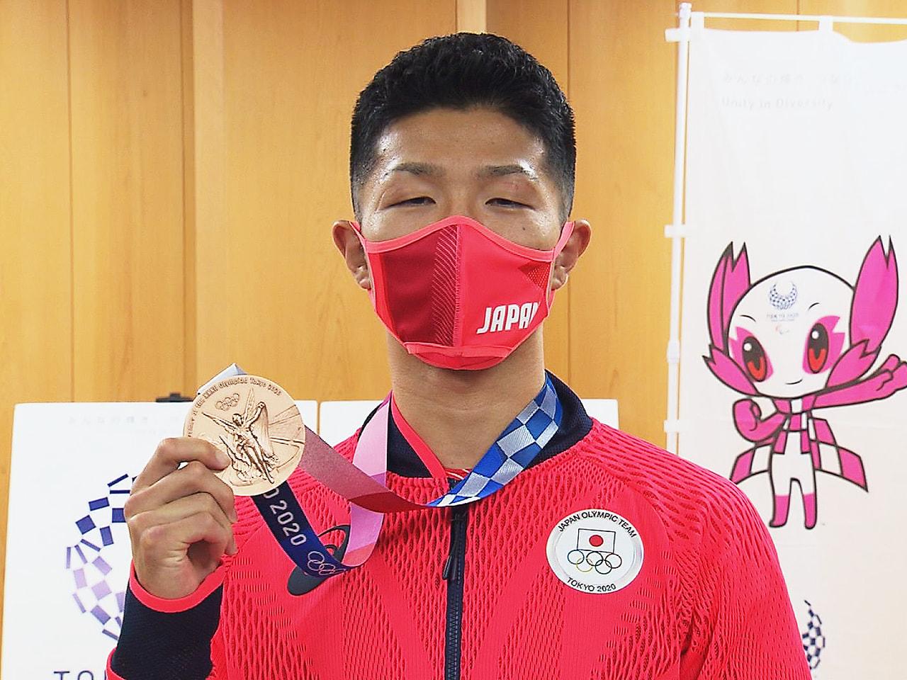 東京オリンピックのボクシング男子フライ級で銅メダルに輝いた、岐阜県多治見市出身の...