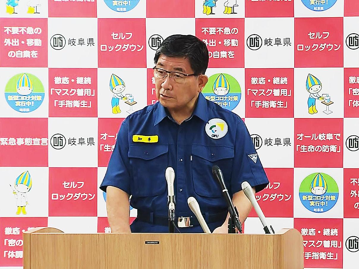 岐阜県の古田肇知事は2日、9月中にも再び新型コロナウイルス患者の自宅療養ゼロを目...