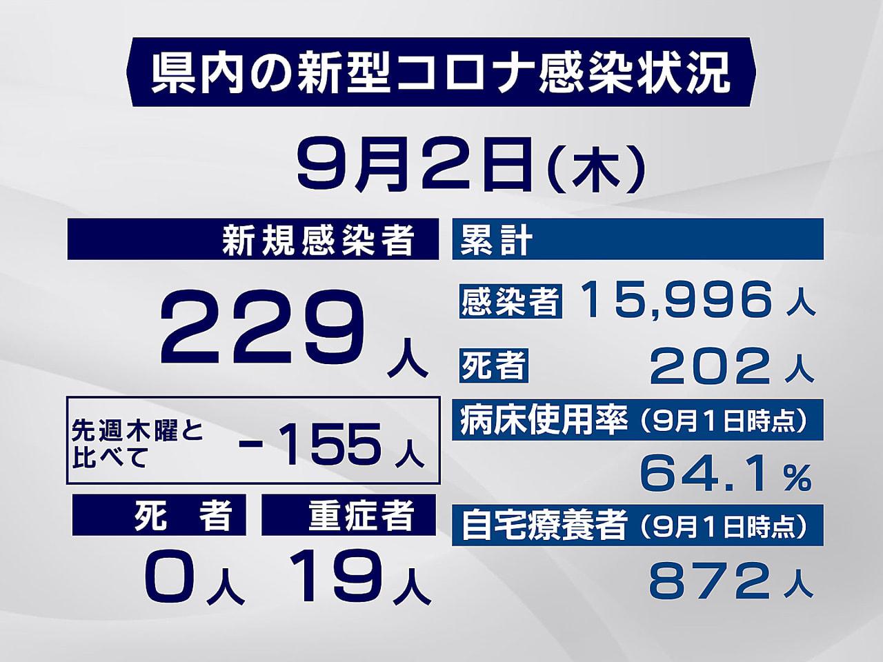 岐阜県と岐阜市は2日、新型コロナウイルスの感染者が新たに229人確認されたと発表...