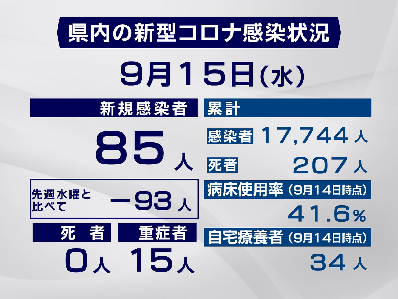 岐阜県と岐阜市は15日、新型コロナウイルスの感染が新たに85人確認されたと発表し...