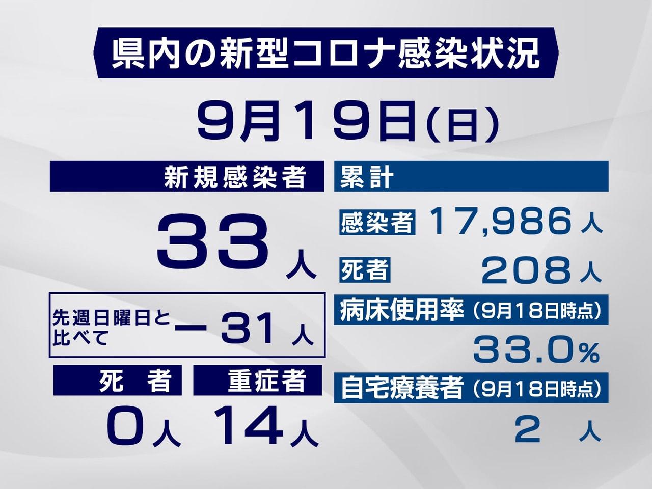 岐阜県と岐阜市は19日、新型コロナウイルスの感染が新たに33人確認されたと発表し...