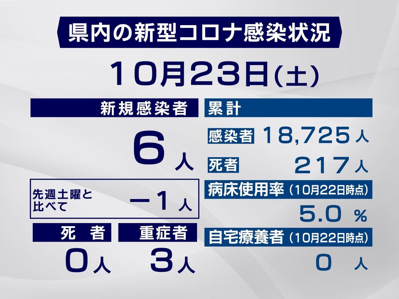 岐阜県は、23日、新型コロナウイルスの感染が新たに6人確認されたと発表しました。...
